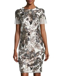 Alexia Admor Sequin Embellished Sheath Dress White
