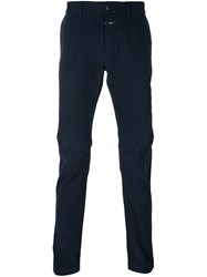 Closed Slim Chino Trousers Blue