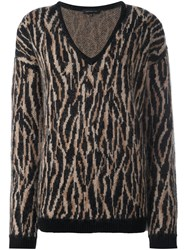 Barbara Bui V Neck Knitted Jumper Black