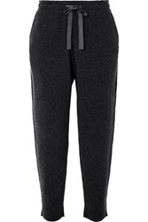 Allude Wool And Cashmere Blend Track Pants Gray