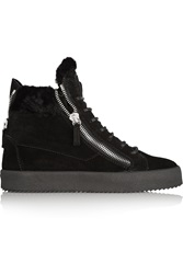 Giuseppe Zanotti May London Shearling Lined Suede High Top Sneakers