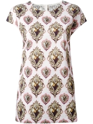 Dolce And Gabbana 'Sacred Heart' Print T Shirt Pink And Purple