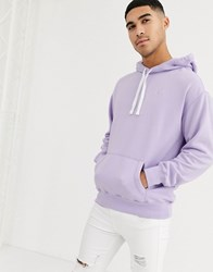 Hollister Icon Logo Hoodie In Purple