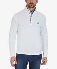 Nautica Men's Quarter Zip Pullover Sweater Marshmallow