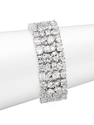 Saks Fifth Avenue Crystal Cuff Bracelet Rhodium