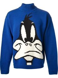 Jc De Castelbajac Vintage 'Duffy Duck' Jumper Blue
