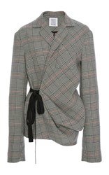 Rosie Assoulin Swaggy Jacket Plaid