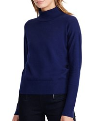 Lauren Ralph Lauren Petite Cotton Turtleneck Sweater Navy