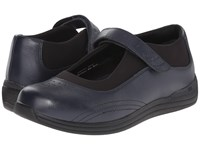 Drew Shoe Rose Navy Smooth Leather Women's Shoes Blue