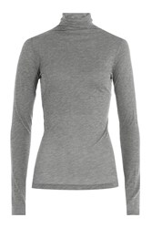 Velvet Cotton Turtleneck Grey