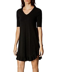 Karen Millen Flounced Hem Dress Black