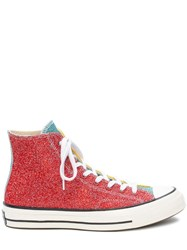 J.W.Anderson Jw Anderson Red And Yellow Glitter Chuck Taylor Converse