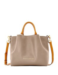 Dooney And Bourke City Large Barlow Leather Tote Taupe