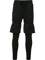 Publish Tiered Track Pants Black