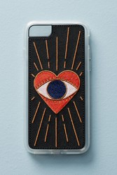 Anthropologie Zero Gravity Visions Embroidered Iphone 6 7 Case Black