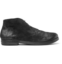 Marsell Washed Suede Boots Black