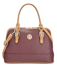 Giani Bernini Saffiano Dome Satchel Only At Macy's Wine