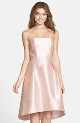 Women's Alfred Sung Strapless High Low Dupioni Dress Pearl Pink