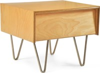 Modernica Case Study Bedside Table Classic Light Brown