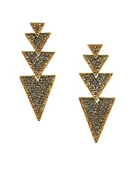 Bcbgmaxazria Goldtone Layered Triangle Earrings Nude Combo