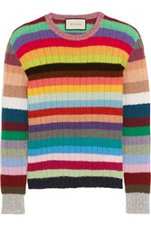 Gucci Striped Cashmere And Wool Blend Sweater
