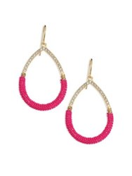 Abs By Allen Schwartz Going Coastal Chain Wrap Teardrop Earrings Red
