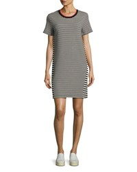 Grey By Jason Wu Short Sleeve Striped T Shirt Dress Multi
