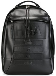 Hood By Air Embossed Logo Backpack Black