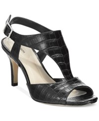 Styleandco. Style And Co. Saharii T Strap Dress Sandals Only At Macy's Women's Shoes Black
