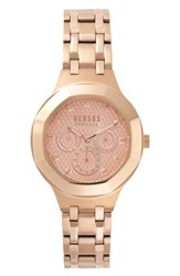 Versus By Versace Laguna City Multifunction Bracelet Watch 40Mm Rose Gold