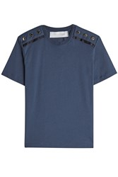 Victoria Beckham Cotton T Shirt With Buttons