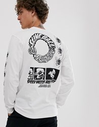 Santa Cruz This Fast Long Sleeve T Shirt With Arm And Back Print In White