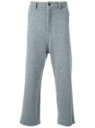 Fad Three Cropped Loose Fit Trousers Grey