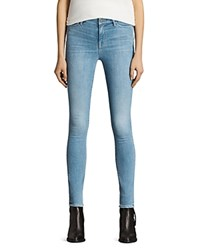 Allsaints Grace Jeans In Light Indigo