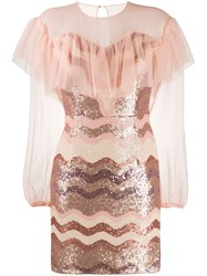 Three Floor Daydreaming Sequinned Mini Dress Pink