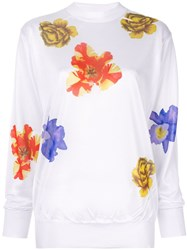 Toga Floral Knit Sweater White