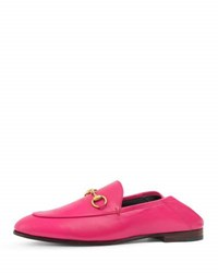 Gucci Brixton Leather Horsebit Loafer Pink