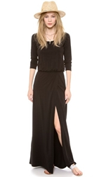 Splendid High Slit Maxi Dress Black