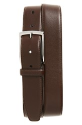 Monte Rosso Men's Big And Tall Nappa Leather Belt Brown
