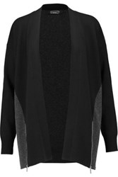 Magaschoni Two Tone Cashmere Cardigan Black