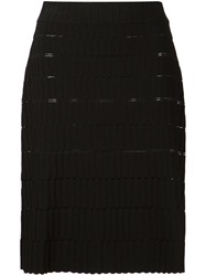 Maison Ullens Brick Stitch Skirt Black
