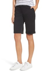 Brax Stretch Cotton Cuff Bermuda Shorts Perma Black