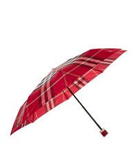 Burberry Shoes And Accessories Check Folding Umbrella Female Red