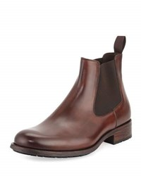 Magnanni Leather Chelsea Boot Mid Brown