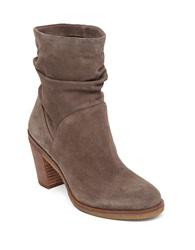 Vince Camuto Parka Suede Slouch Ankle Boots Dark Taupe