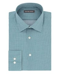 Geoffrey Beene Fitted Wrinkle Free Dress Shirt Leaf