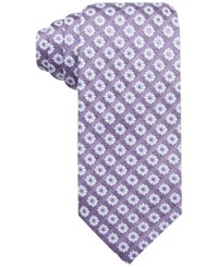 Tasso Elba Men's Tacoma Medallion Classic Tie Only At Macy's Purple