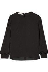 Cedric Charlier Washed Satin Top
