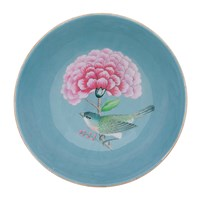 Pip Studio Blushing Birds Wooden Serving Bowl Blue