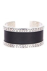 Lois Hill Sterling Silver And Genuine Leather Cutout Cuff Bracelet No Color